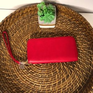 New! Red Wristlet Wallet